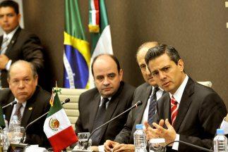 Enrique Peña Nieto, presidente electo de México, de gira por Brasil. (Fo...