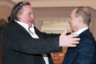 Gerard Depardieu y Vladimir Putin.