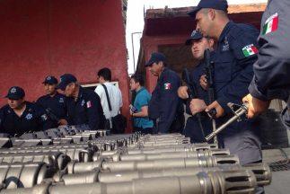 Estas son algunas de las armas que han sido entregadas. (Imagen de Joaqu...