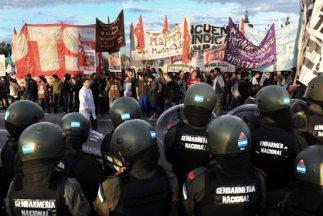 Sindicatos opositores convocaron la movilización para protestar en contr...