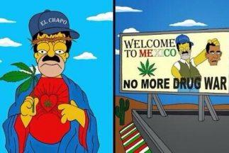 Alexsandro Palombo caracterizó a Homero Simpson como el narcotraficante...
