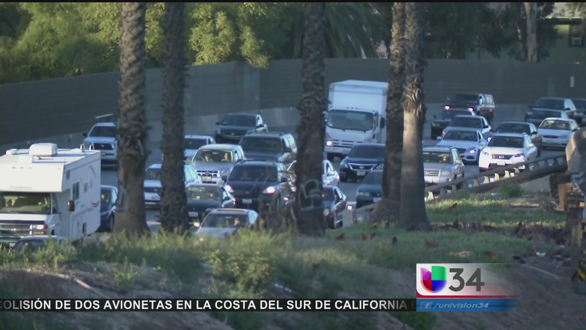 Caos vial por las obras en la autopista 101