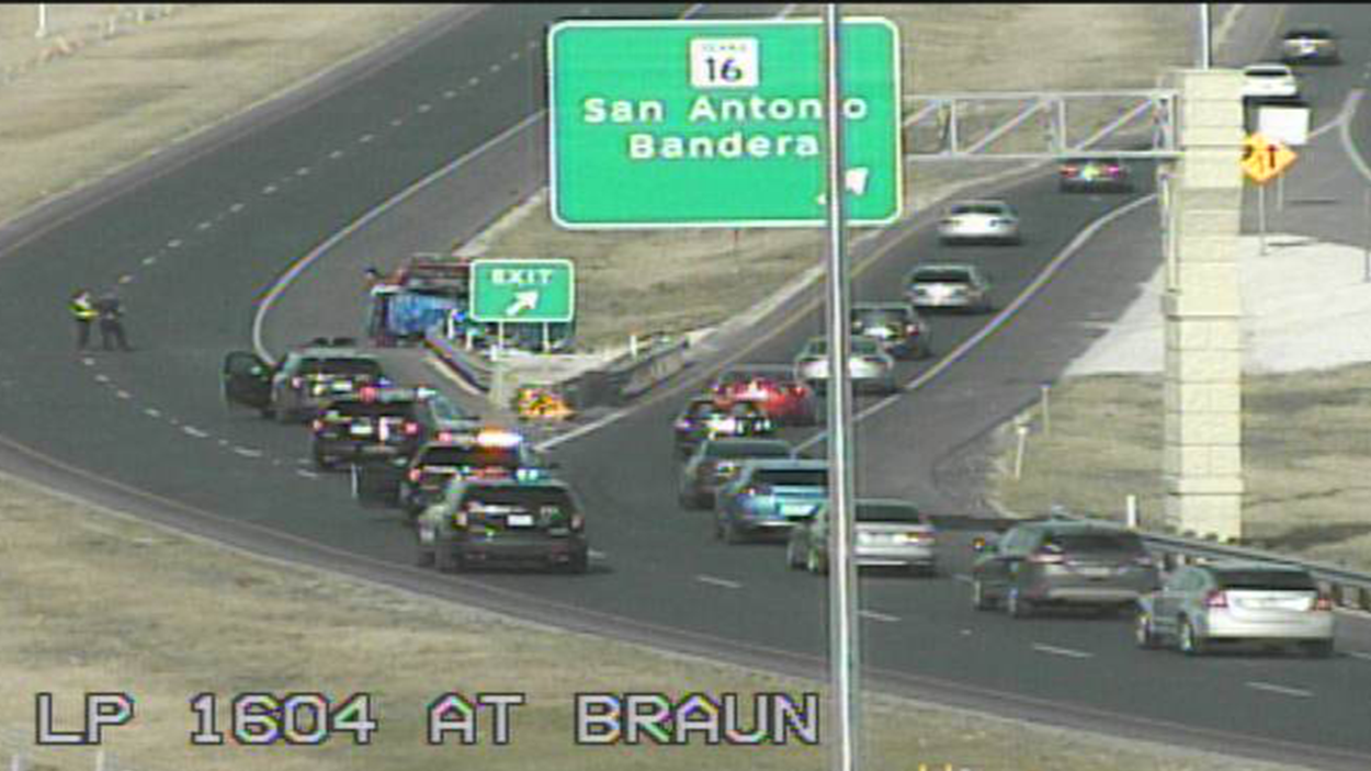 TRAFFIC: Roll Over Accident 1604 @ Braun Exit - KXTN 107.5 ...