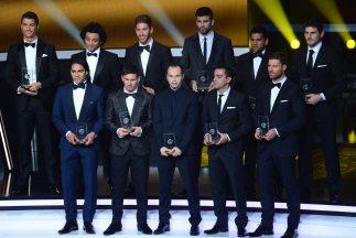 10 jugadores de Barcelona y Real Madrid, cinco por equipo, y Falcao conf...