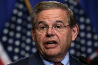 El senador demócrata Bob Menéndez (Nueva Jersey).