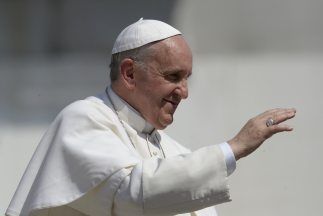El papa Francisco, durante la audiencia en el Vaticano.