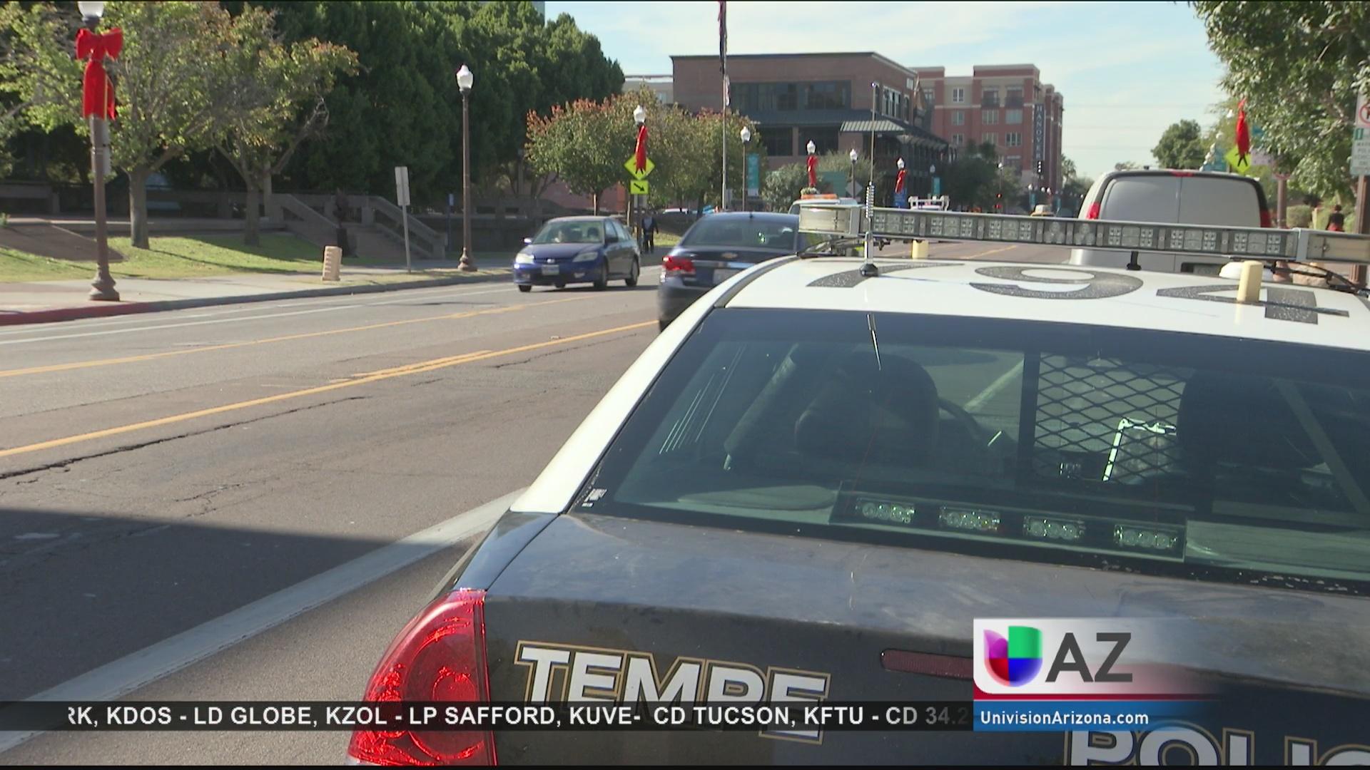 Tres heridos por accidente automovilístico en Tempe