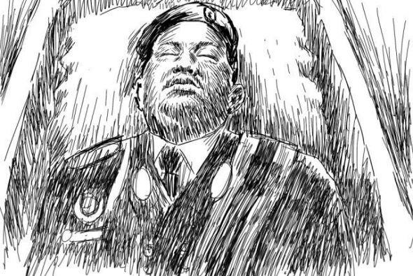 Imagen de Hugo Chávez según un experto retratista.