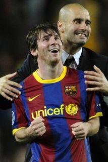 Guardiola ganó diversos títulos con el Barcelona, todos de la mano del t...