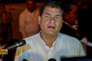 El presidente de Ecuador,Rafael Correa.