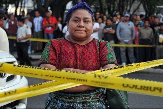 La Premio Nobel de la Paz 1992, la dirigente indígena guatemalteca Rigob...