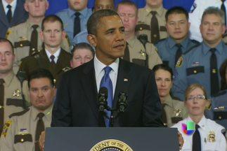 Barack Obama: 'Las armas de guerra no deben seguir en las calles'