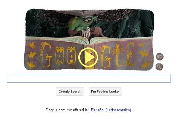 Google lanzó un doodle especial para Halloween.