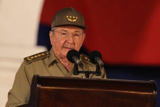 Castro habló ante más de 3,000 personas, entre ellos la cúpula cubana.