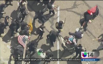 Detienen a 20 personas tras actos violentos en Berkeley