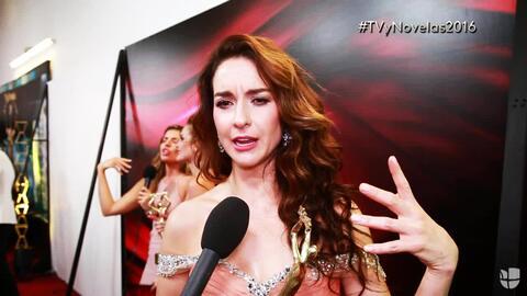 Susana González está fascinada con su premio TVyNovelas