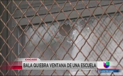 Bala quiebra ventana de escuela