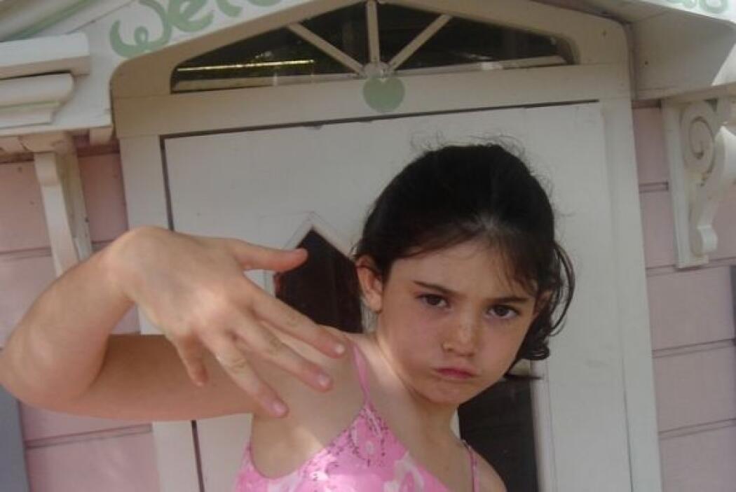 Kendall sacó varias fotos de su hermana cuando era pequeñita.