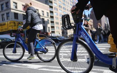 El sistema de bicicletas públicas de Nueva York es el más grande de Esta...