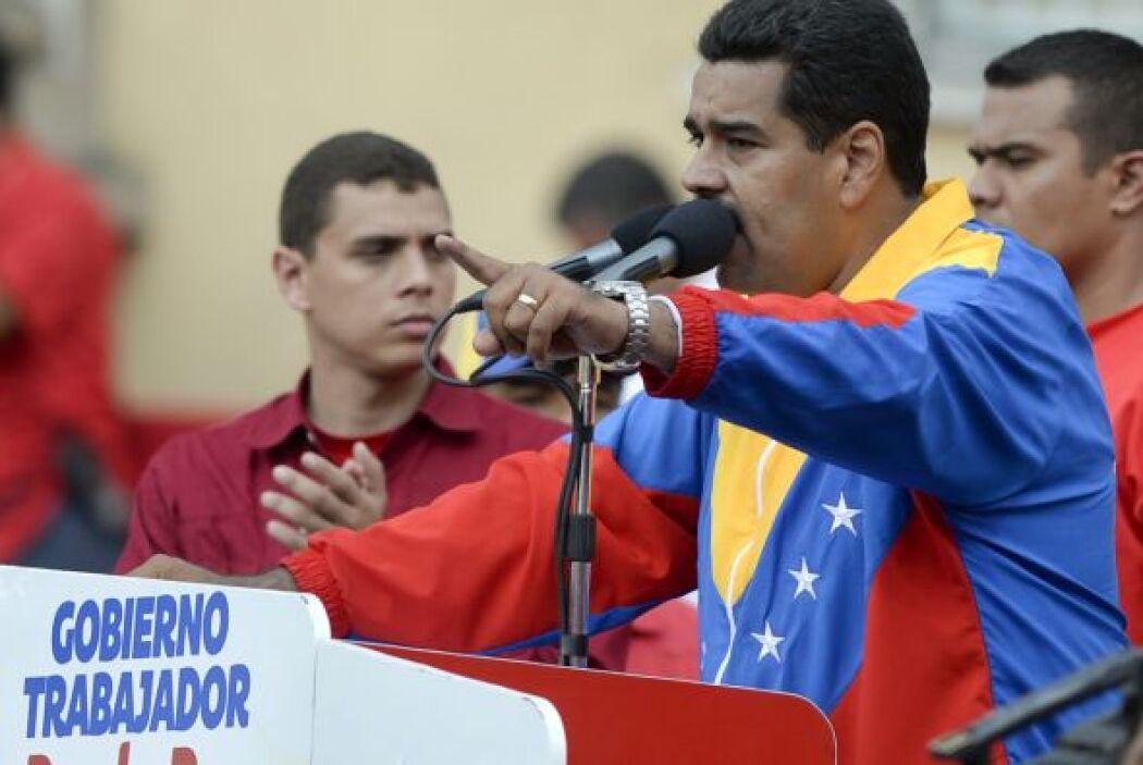 El presidente Nicolás Maduro presidió actos enarbolando la causa de los...