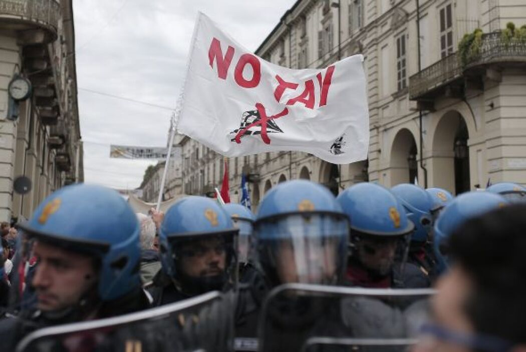 En la mayoría de las ciudades italianas, todo transcurrió sin incidentes.