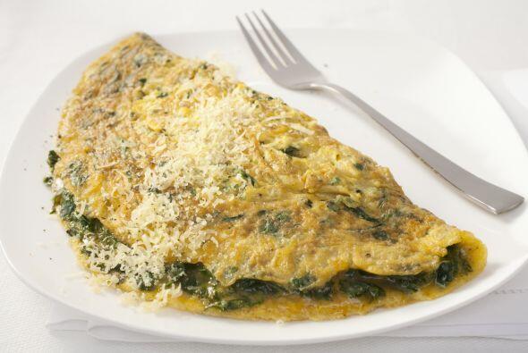 Omelettes Los huevos es mejor consumirlos por las mañanas gracias a las...