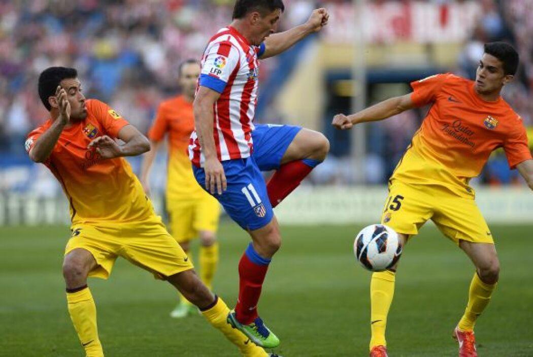 Aún faltaba un gol más y fue marcado por un jugador del Atlético, Gabi.