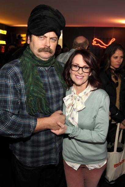 Megan tiene 54 años, mientras que Nick tiene 43. Llevan felizment...