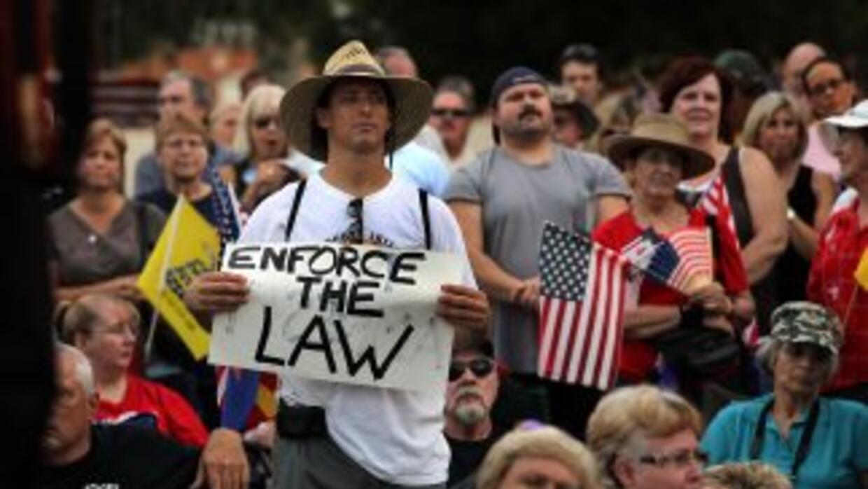 La ley migratoria de Arizona (SB1070) cuenta con amplio respaldo en ese...