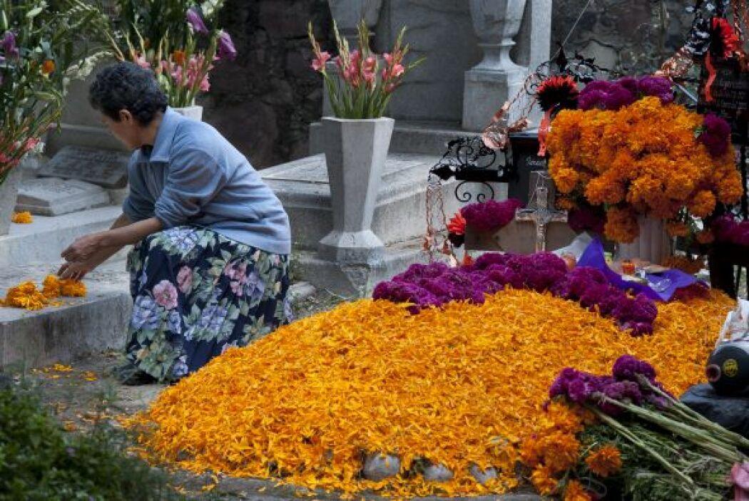 La tradicional fiesta de Día de Muertos en México se vive de forma muy p...