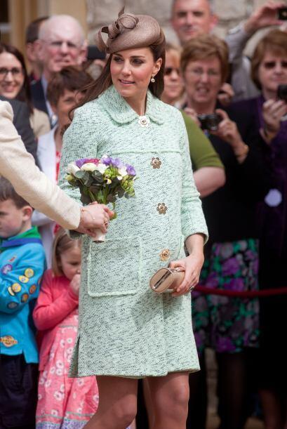 Y la presencia de Kate Middleton alborotó a todos los que acudieron.