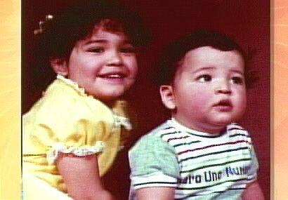 ¡Que linda foto con su hermanito! Ella es mexicana y tiene una fam...
