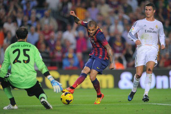 El porteron del Real Madrid salvó el mano a mano.
