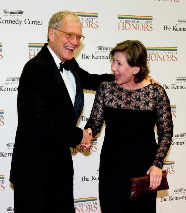 David Letterman y su esposa