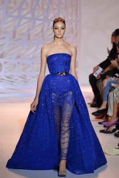 En las más recientes Semanas de la Moda, el azul eléctrico...