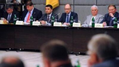 Mesa redonda sobre el futuro de Ucrania.