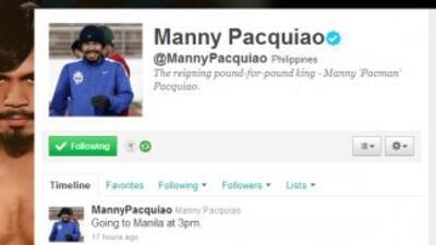 Manny pacquaio ya está en Twitter.