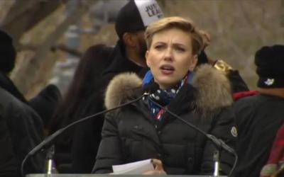 Scarlett Johansson en la Marcha de las Mujeres en Washington.