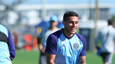 Ronald Matarrita entrenando con New York City FC