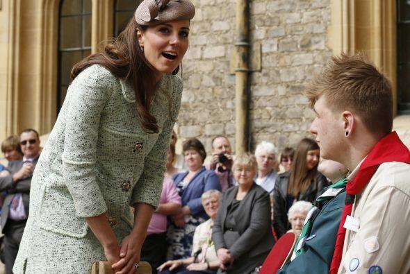 La aparición de Kate Middleton en este acto, coincidió con el cumpleaños...