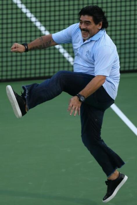 Así se divirtió Maradona.