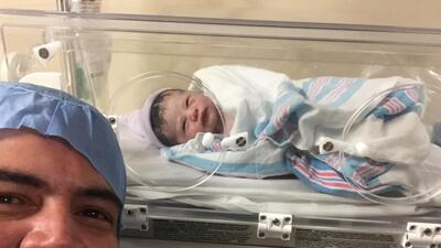 Orlando Segura ya es papá