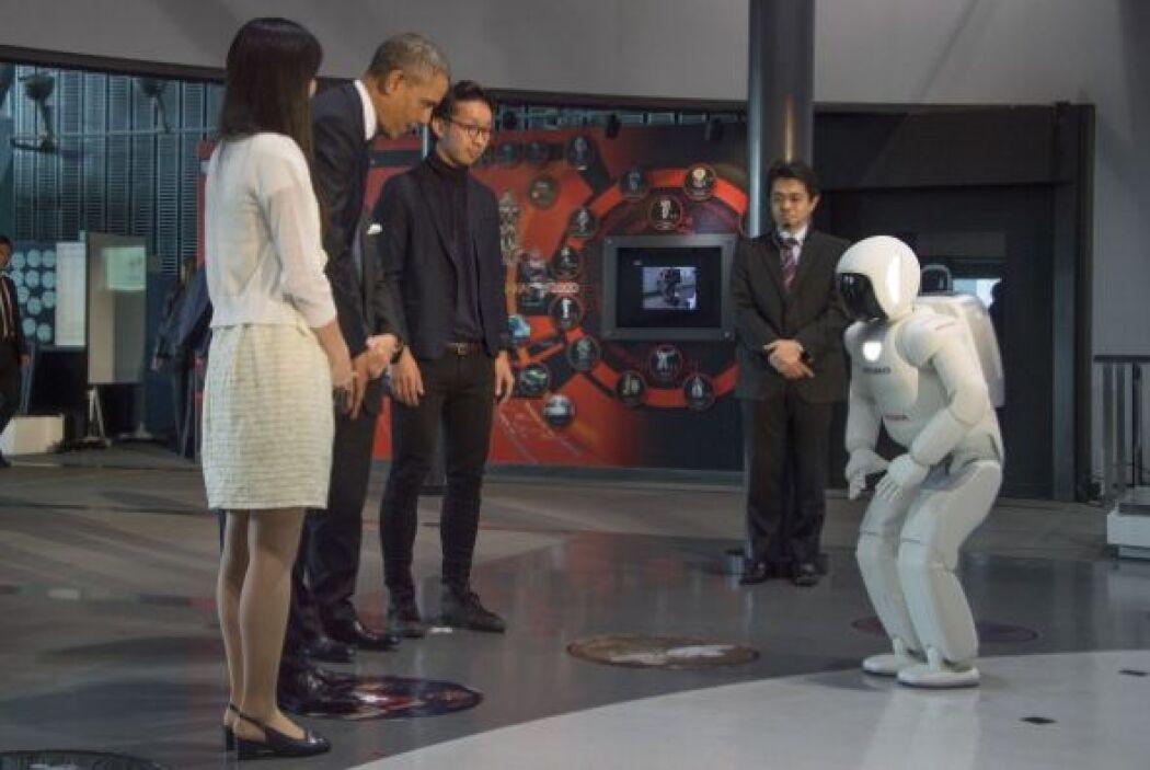 En su visita al Museo de Ciencia Emergente e Innovación el presidente Ob...