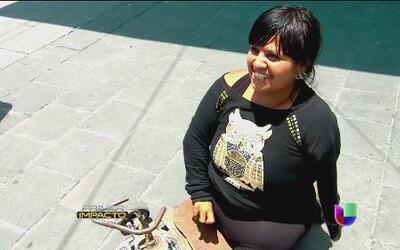Los impedimentos físicos no son obstáculos para Katia