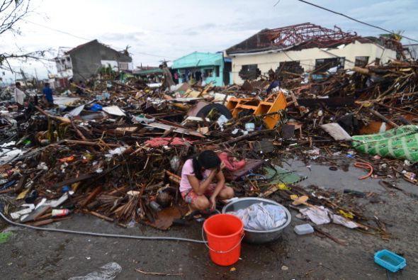 No hay comida. No hay agua. Las casas y los edificios están destruidos.