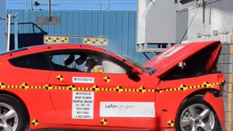 El nuevo Mustang es un auto muy seguro. (Foto: NHTSA)