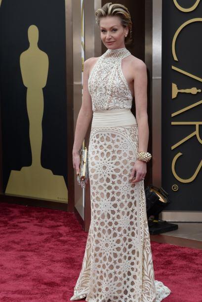Portia de Rossi, una de las más bellas. Acertó con su vestido de Naeem K...