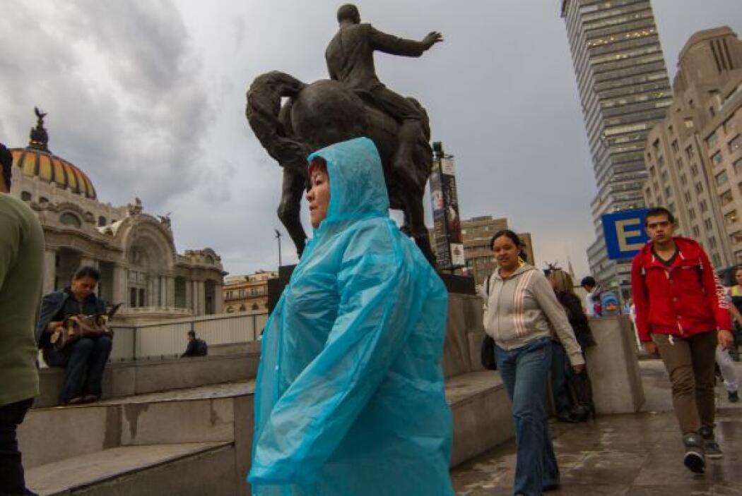 Que sin estar preparados, hicieron frente a la lluvia.