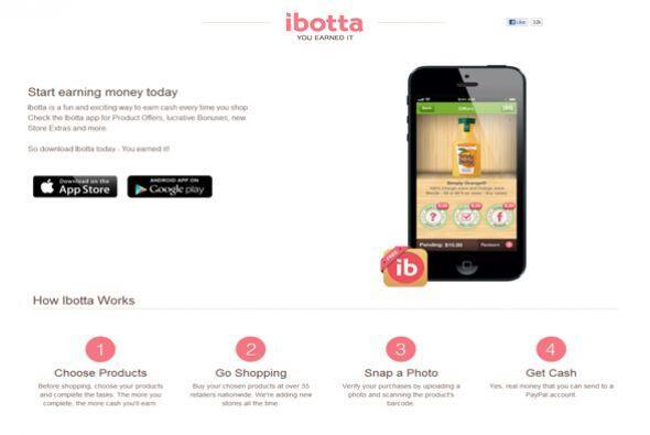 Ibotta (ibotta.com)  Calificación de CR: Muy bueno para obtener devoluci...