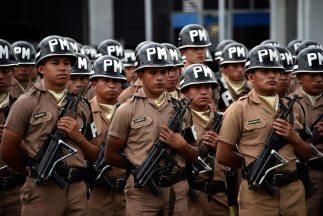 Despliegue policial en Guatemala.